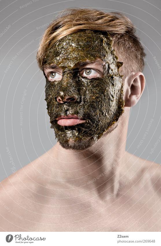 masked Algen elegant Wellness Mensch maskulin Junger Mann Jugendliche 18-30 Jahre Erwachsene Maske Haare & Frisuren blond alt träumen dehydrieren einfach grün