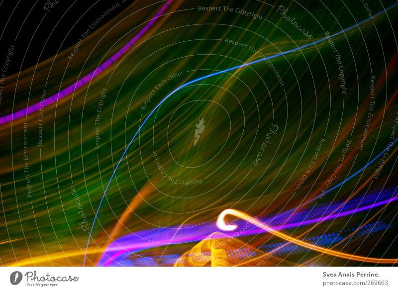 Dimension. Design leuchten grün violett Lichtspiel Lichterscheinung Lichtschein Lichtstrahl lichtvoll Farbe Farbenspiel Farbverlauf glänzend Farbfoto mehrfarbig