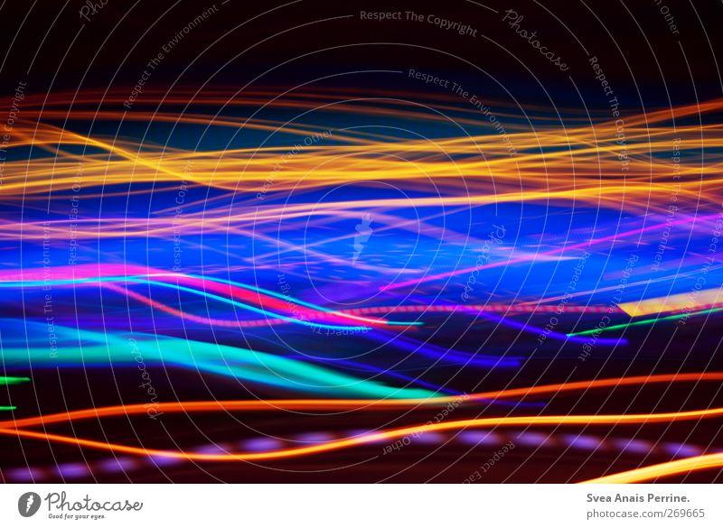 Lichtlänge. Design Freude Nachtleben leuchten Unendlichkeit verrückt trashig blau gelb Glück Fröhlichkeit Zufriedenheit Bewegung erleben Genauigkeit