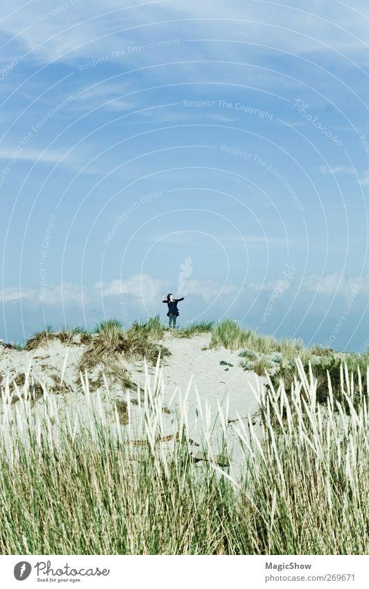Mittelpunkt der Erde – wo sich Himmel und Erde berühren Mensch Natur blau grün Freude Erholung Landschaft Leben Wärme Küste Glück Sand springen träumen
