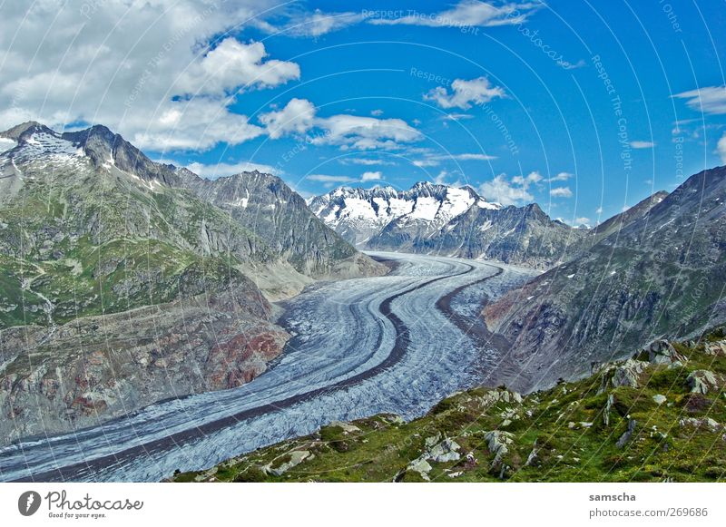 Gletscherwanderung Himmel Natur Ferien & Urlaub & Reisen Pflanze Landschaft Wolken Berge u. Gebirge Umwelt Herbst Schnee Felsen Eis Idylle Aussicht Klima