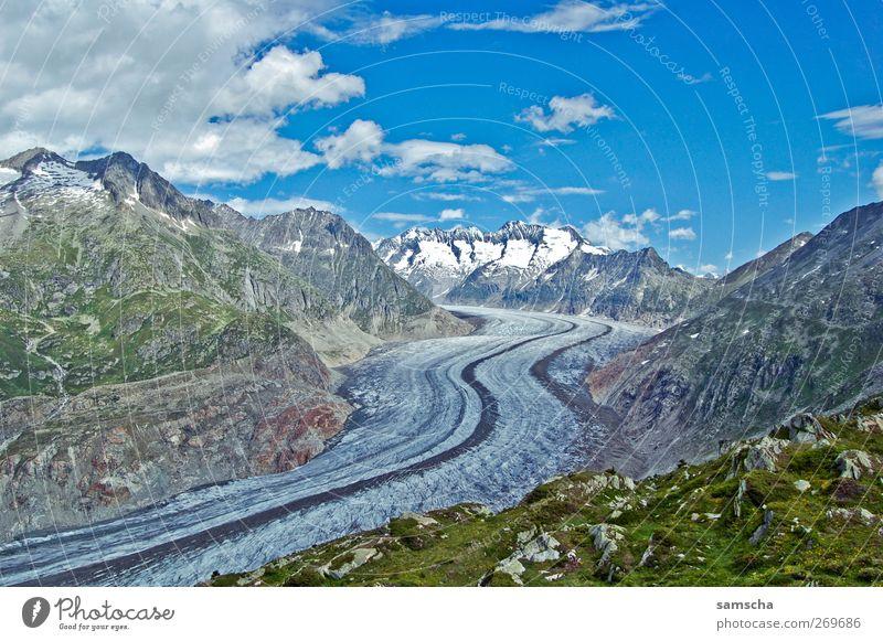 Gletscherwanderung Umwelt Natur Landschaft Pflanze Himmel Wolken Herbst Klima Klimawandel Schönes Wetter Eis Frost Schnee Felsen Alpen Berge u. Gebirge Gipfel