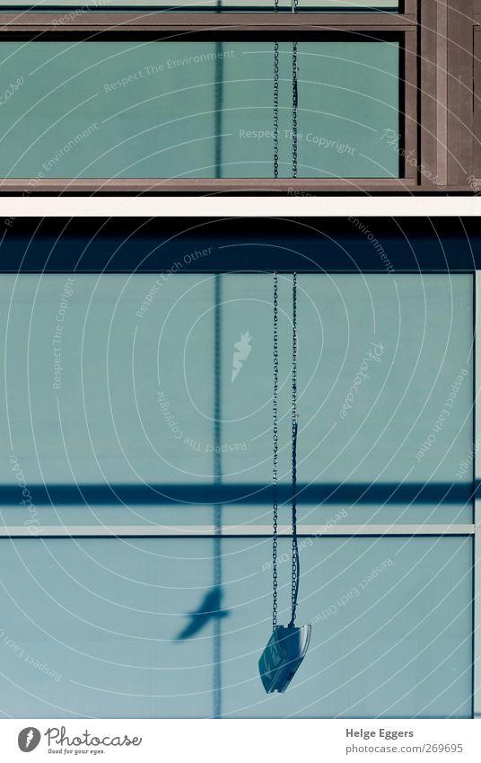 Exit blau Stadt grau Fassade ästhetisch Perspektive Entscheidung driften Sinnbild vielschichtig