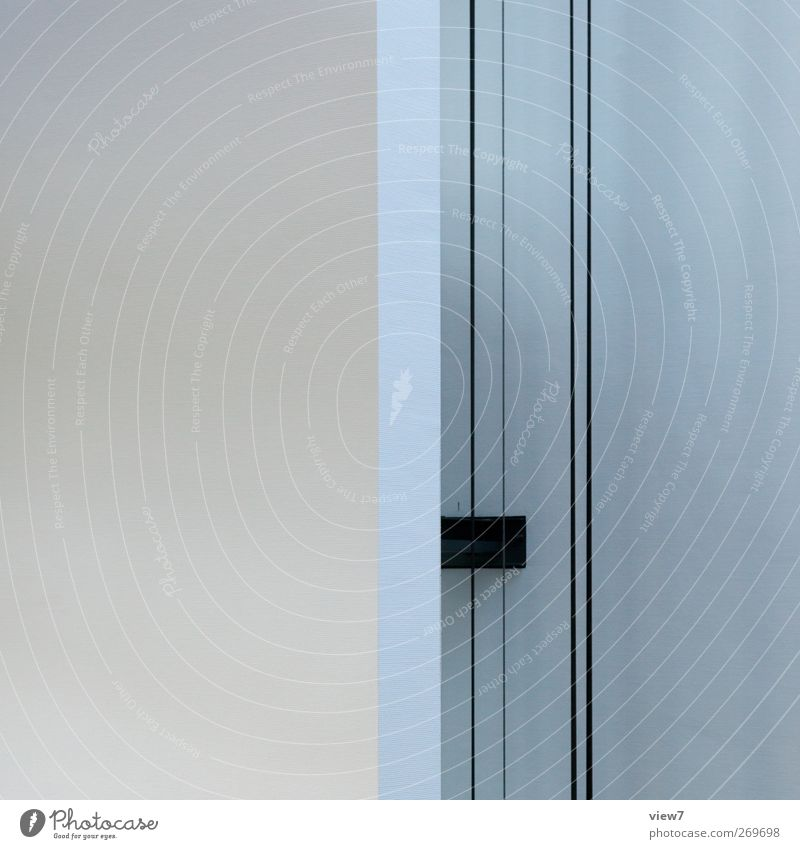 Ding Haus Bauwerk Gebäude Architektur Mauer Wand Fassade Beton Metall Linie Streifen ästhetisch dünn authentisch elegant modern neu positiv weiß Beginn Design