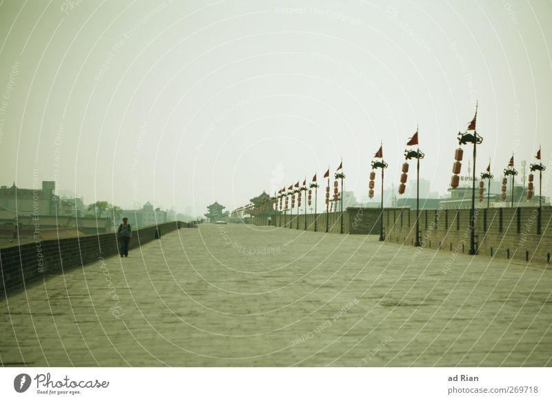 die Mauer Mensch Himmel Mann alt Stadt Wolken Erwachsene Wand Brücke Turm Bauwerk historisch Burg oder Schloss Skyline China