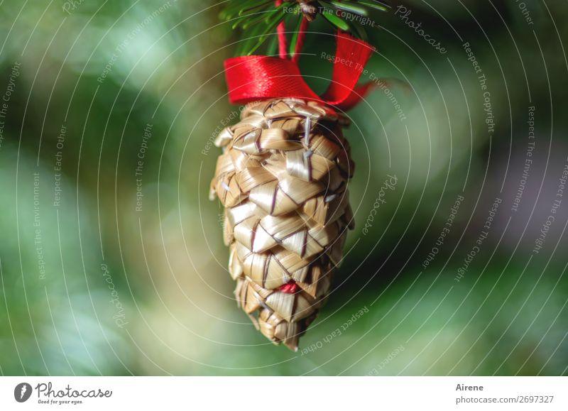 O Tannenzapfen Basteln Häusliches Leben Dekoration & Verzierung Weihnachten & Advent Baumschmuck Schleife Feste & Feiern hängen ästhetisch einfach natürlich