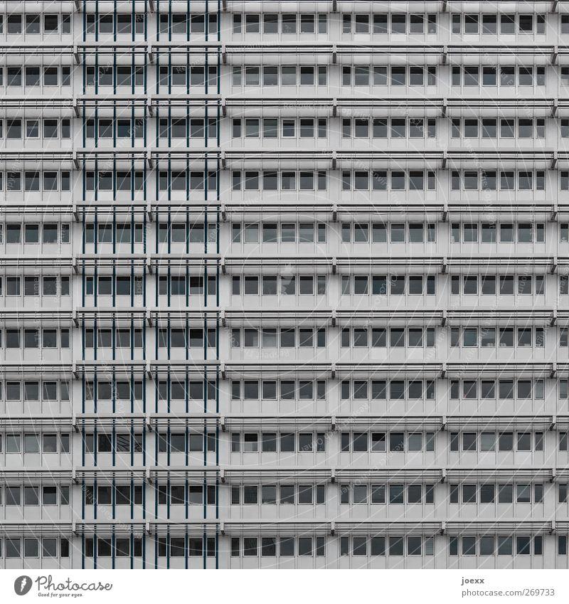Container Stadt Haus Hochhaus Gebäude Fassade Fenster hässlich grau Farbfoto Gedeckte Farben Außenaufnahme Menschenleer Tag