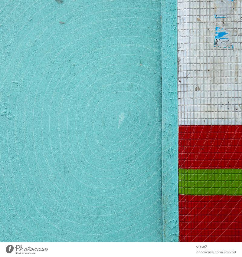 farbenfroh Häusliches Leben Hausbau Renovieren Umzug (Wohnungswechsel) einrichten Bauwerk Gebäude Architektur Mauer Wand Fassade Beton Linie Streifen alt