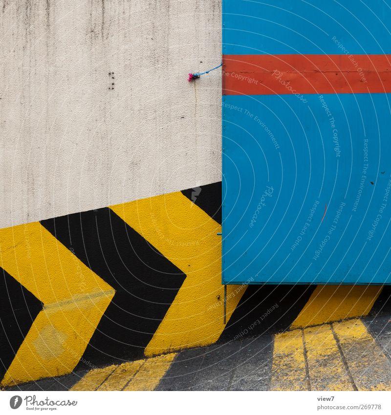 Gestaltung Haus Wand Architektur Stein Mauer Gebäude Metall Linie Fassade Schilder & Markierungen Beginn Beton Design frisch modern
