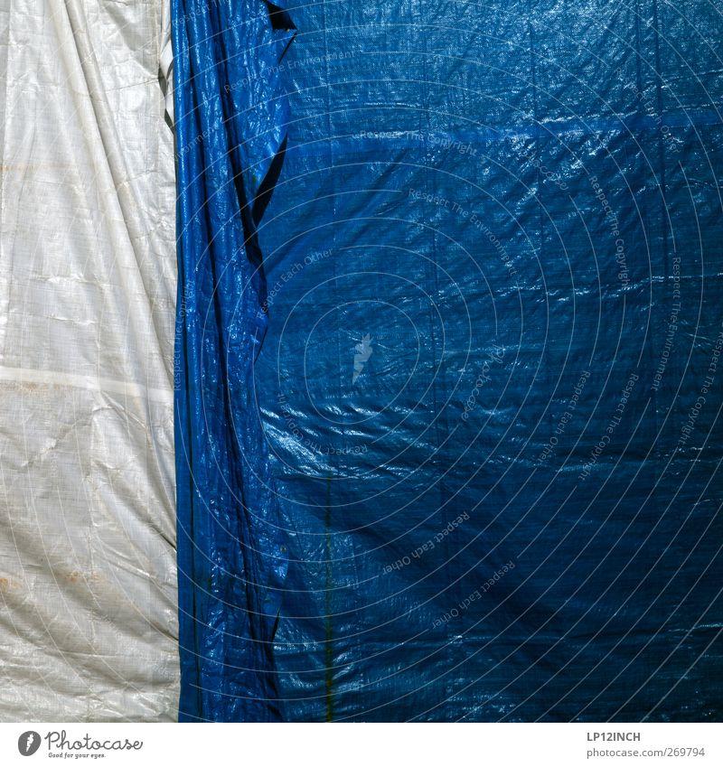 tRaum auf dem Wasser V blau weiß Baustelle Kunststoff verstecken Renovieren Abdeckung verdeckt