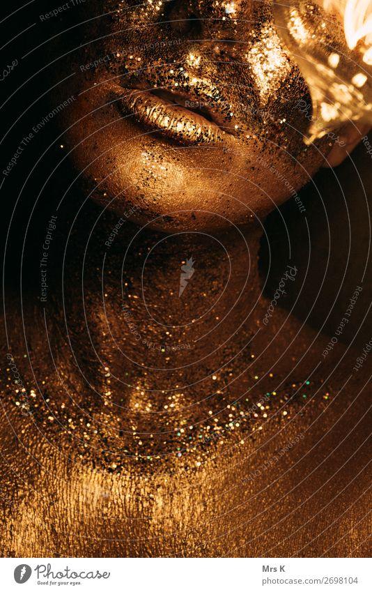 gold child Mensch schön Gesicht Lifestyle Erwachsene feminin Stil Kunst Party glänzend elegant Buch Energie Warmherzigkeit Geld