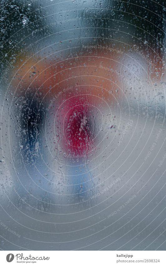 nieselregen Mensch 2 Umwelt Natur Wasser Wassertropfen Wetter schlechtes Wetter Regen gehen Nieselregen Fensterscheibe beschlagen feucht Unschärfe Tropfen