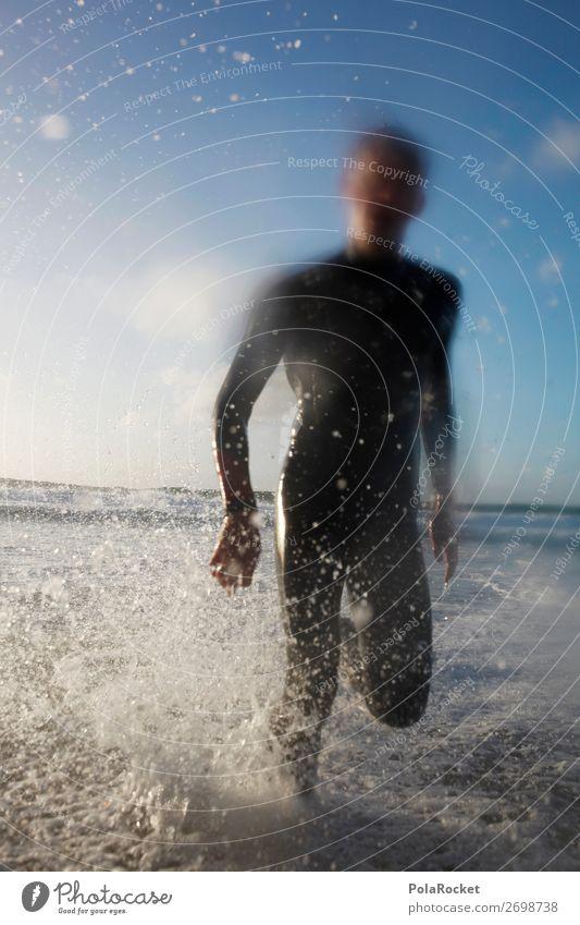 #AS# WaterBoy Kunst ästhetisch Wasser Meerwasser Surfen Surfer Surfbrett Surfschule Wassersport Außenaufnahme Sport spritzen toben Ferien & Urlaub & Reisen