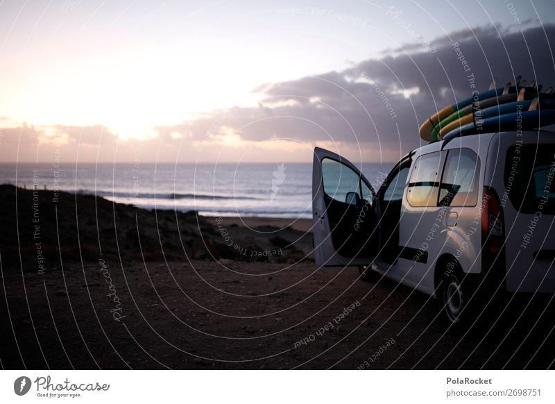 #AS# surfbreak Landschaft genießen Surfer Surfbrett Surfschule Schönes Wetter Jugendliche Fuerteventura Strand Strandleben Freiheit Erholung Autotür