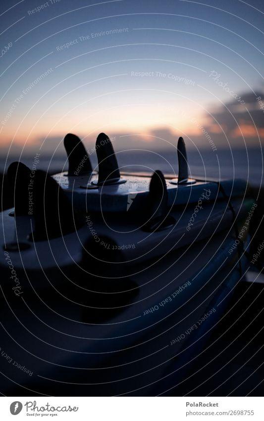 #AS# Gone Surfing Lifestyle Freude ästhetisch Surfen Surfer Sport genießen Dach Sonnenuntergang Erfolg Surfbrett Ferien & Urlaub & Reisen spaßig Extremsport