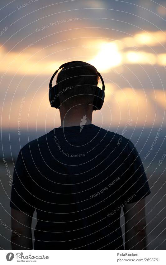 #AS# SummerSound 1 Mensch ästhetisch Tontechnik Musik Musik hören Kopfhörer Morgen Morgendämmerung Morgenland akustisch Gehörsinn Farbfoto Gedeckte Farben