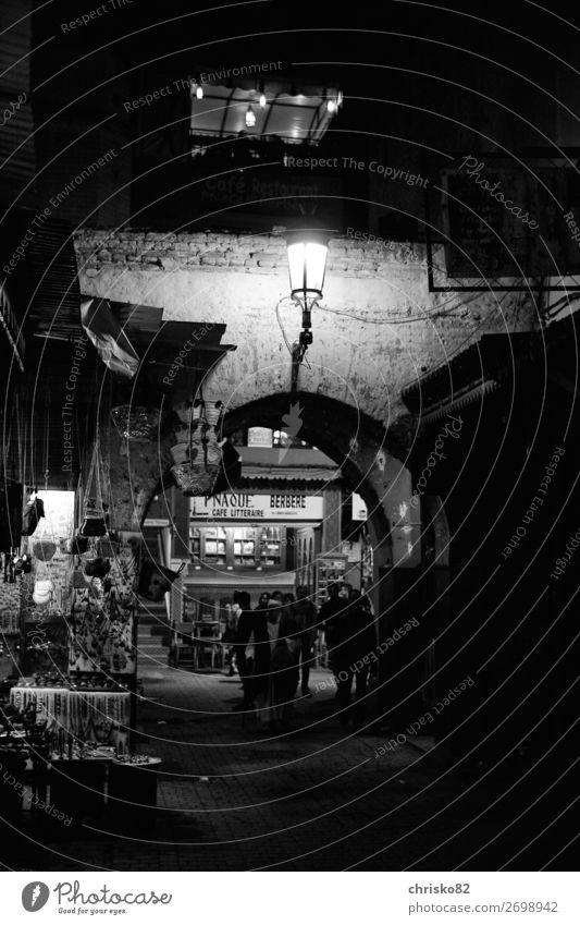 Souks Marrakesch Ferien & Urlaub & Reisen Stadt Straße Architektur Leben Religion & Glaube außergewöhnlich leuchten Kultur Kreativität Abenteuer authentisch