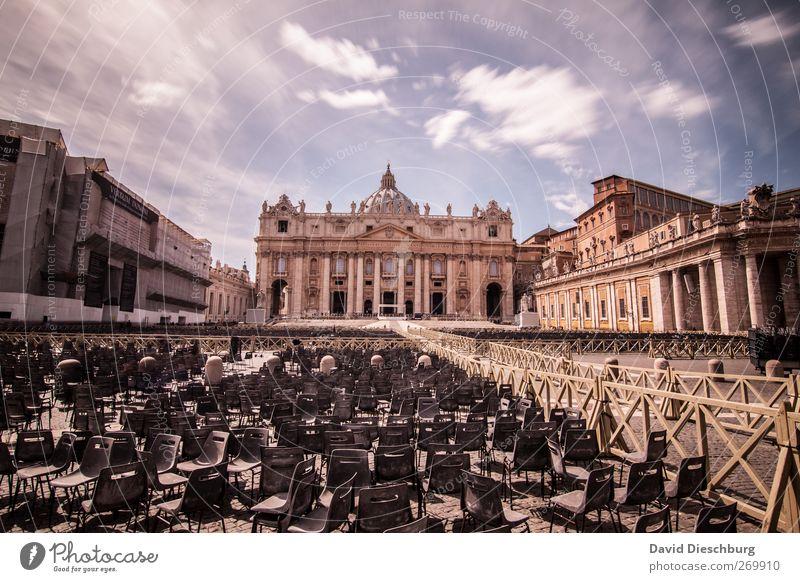 Rom/Pertersdom IV Himmel alt Wolken Religion & Glaube Gebäude braun Kirche Schönes Wetter Stuhl historisch Sommerurlaub heilig Wahrzeichen Sitzgelegenheit Dom