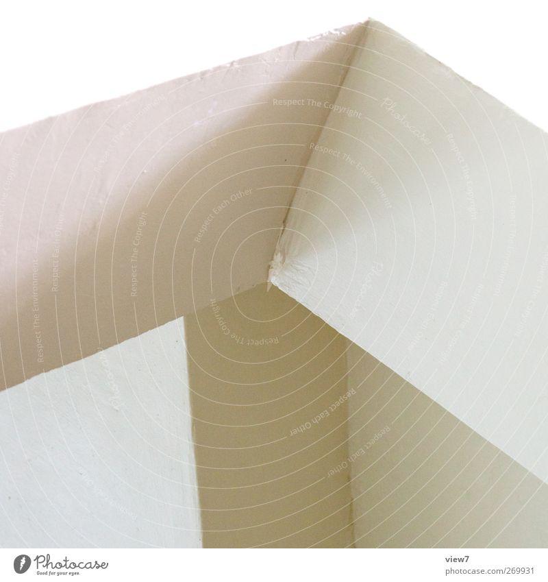 schräges zeug Haus Bauwerk Gebäude Architektur Mauer Wand Fassade Stein Beton Linie Streifen ästhetisch authentisch einfach frei frisch modern positiv weiß