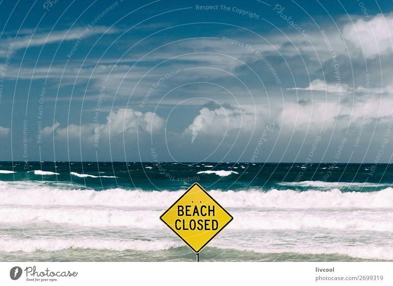 Himmel Ferien & Urlaub & Reisen Natur blau schön Wasser weiß Landschaft Meer Wolken Einsamkeit Strand gelb Frühling Küste Tourismus