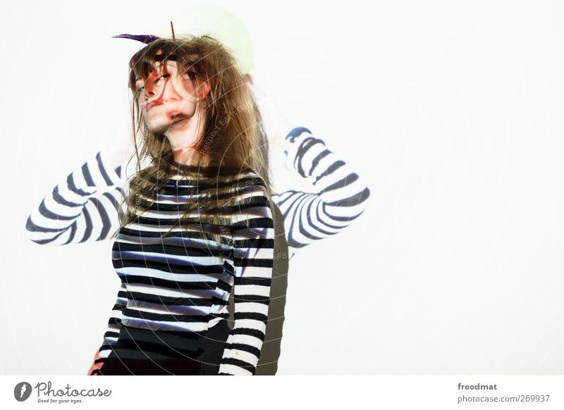 double feature Mensch Frau Jugendliche Erwachsene feminin Erotik Stil Kunst Junge Frau wild verrückt Lifestyle Coolness einzigartig Kultur skurril