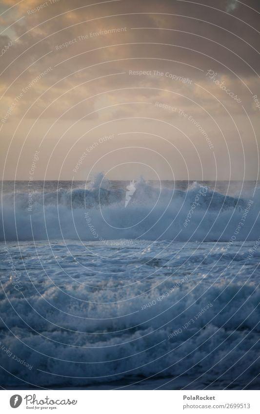 #AS# Düstre See Umwelt Natur Wasser ästhetisch Meer Meerwasser Meerestiefe Wellen Wellengang Wellenform Wellenschlag Unwetter Gischt rau Küste Farbfoto