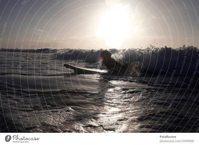 #AS# ready for take off Wasser Junger Mann Einsamkeit Freude Lifestyle Freiheit Freizeit & Hobby wild Wellen Kraft ästhetisch Surfen Versuch üben Surfer