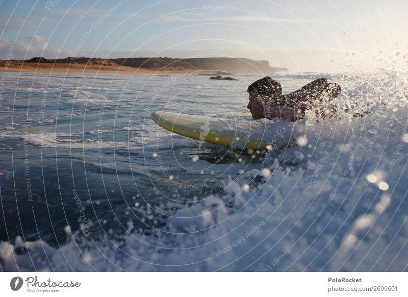 #AS# getting started Kunst ästhetisch Surfen Surfer Surfbrett Surfschule Wellen Wellenform Wassersport Fuerteventura Farbfoto Gedeckte Farben Außenaufnahme