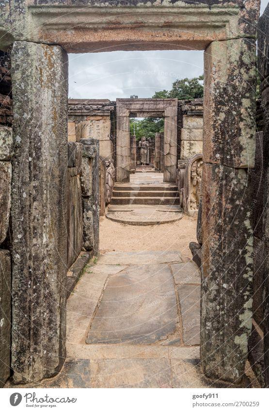 Durchgang ins Glück Ferien & Urlaub & Reisen Ausflug Abenteuer Ferne Freiheit Sightseeing Sri Lanka Palast Ruine Bauwerk Mauer Wand Treppe Sehenswürdigkeit