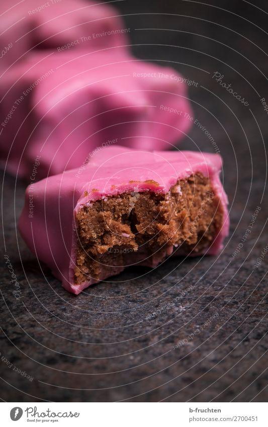 leckere Punschsterne Lebensmittel Dessert Süßwaren Essen Liebe frisch weich rosa Feinschmecker Rum punschkrapfen punschstern Stern (Symbol) Österreich Biss