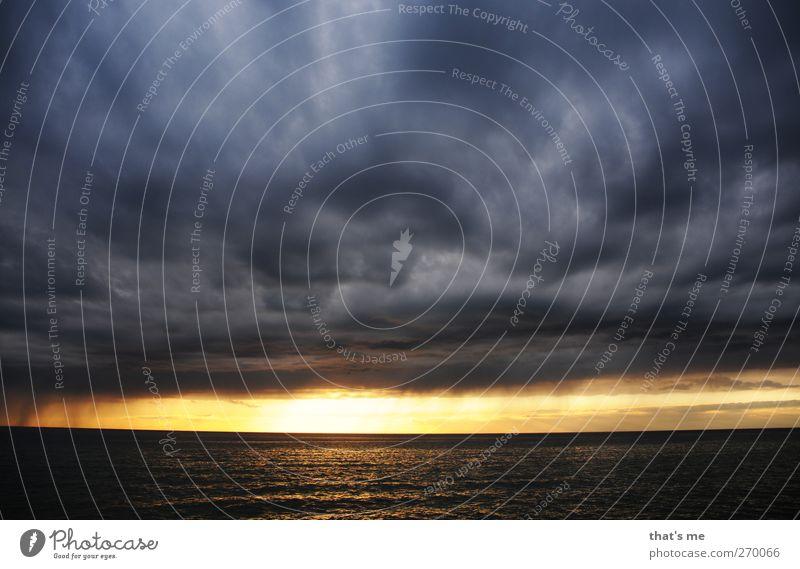 Hiddensee | Dramawolken Himmel Natur blau Wasser schön Sonne Meer Strand Wolken schwarz Umwelt gelb Landschaft Küste grau Horizont