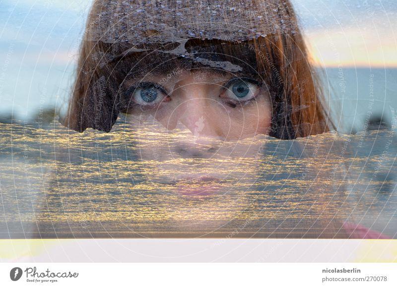 Hiddensee | Montags Portrait | Das Meer in Mir Mensch Jugendliche blau Sommer Strand Erwachsene Auge dunkel feminin Küste Haare & Frisuren Sand Stein Junge Frau