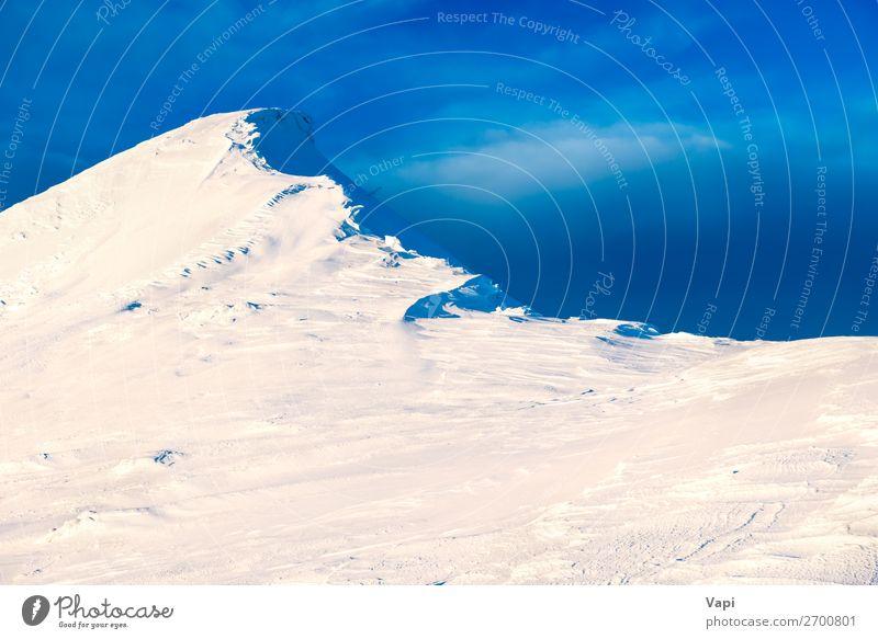 Himmel Ferien & Urlaub & Reisen Natur blau schön weiß Landschaft Wolken Winter Berge u. Gebirge gelb Umwelt natürlich Schnee Tourismus orange