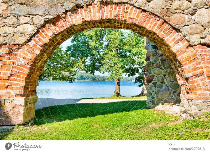 Ferien & Urlaub & Reisen Natur alt Sommer blau grün Wasser weiß Landschaft rot Baum Architektur Herbst gelb Frühling natürlich