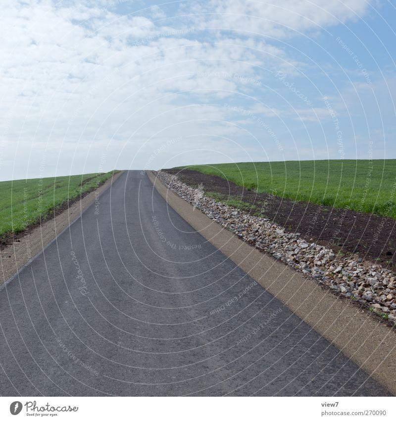 neue Wege Himmel Natur Pflanze Wolken Umwelt Landschaft Straße Frühling Wege & Pfade Feld Beginn Verkehr modern authentisch Schönes Wetter