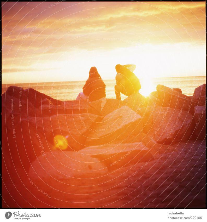 Hiddensee | erste sonnenstrahlen. androgyn 2 Mensch Umwelt Natur Landschaft Schönes Wetter Zufriedenheit Sehnsucht Fernweh Mittelformat Farbfoto Außenaufnahme