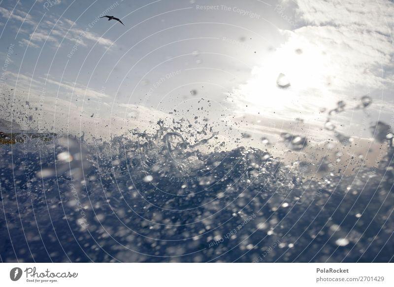 #AS# feel the ocean Kunst ästhetisch Wellen Wellenform Wellenlinie Wellenschlag Wasser Wassertropfen spritzen viele Gischt Mitte Surfen Surfer Surfbrett