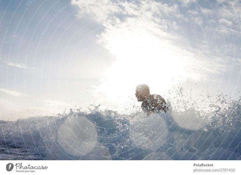 #AS# Into The White 1 Mensch ästhetisch Surfen Surfer Surfbrett Surfschule Wasser spritzen Bewegung Meer Meerwasser Wassersport Aktion Extremsport Wellen