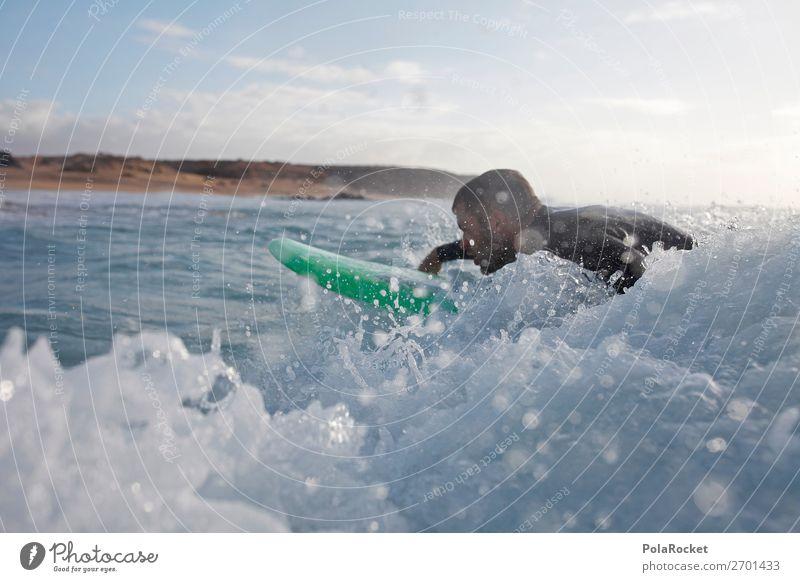 #AS# close Kunst ästhetisch Surfen Surfer Surfbrett Surfschule Wasser Wassersport Paddeln Farbfoto Gedeckte Farben Außenaufnahme Detailaufnahme Experiment