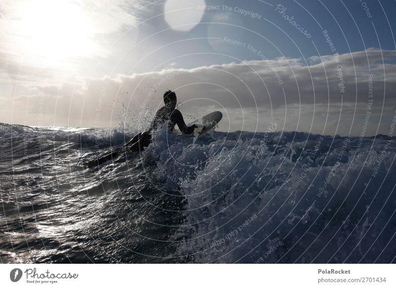 #AS# Auf Dem Weg Kunst Abenteuer Surfen Surfer Surfbrett Surfschule Wellen Wellengang Wellenform Wellenlinie Fuerteventura Farbfoto Gedeckte Farben