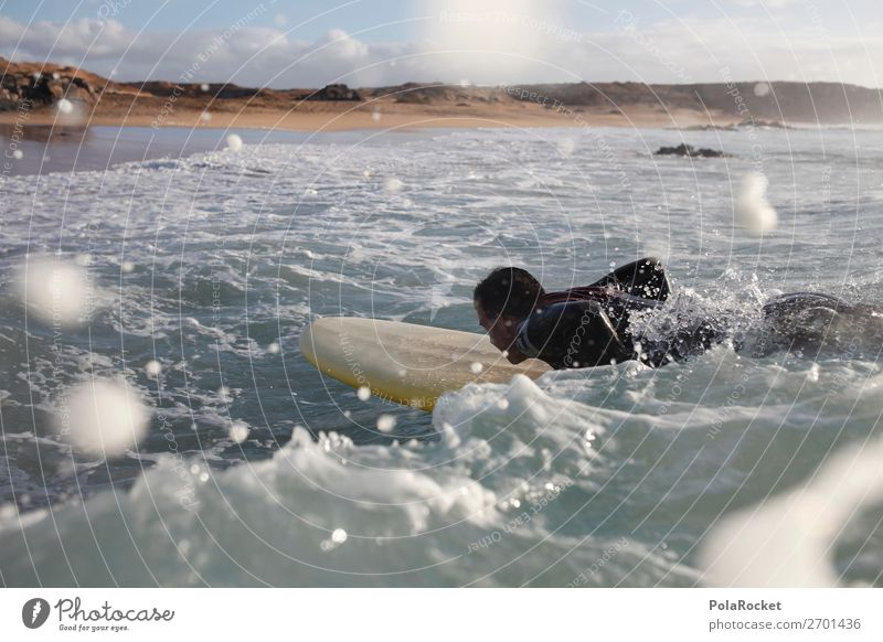 #AS# starting 1 Mensch ästhetisch Surfen Surfer Surfbrett Surfschule Wellen Wellengang Wellenform Wellenlinie Sommerurlaub Meerwasser Wasser Wassersport