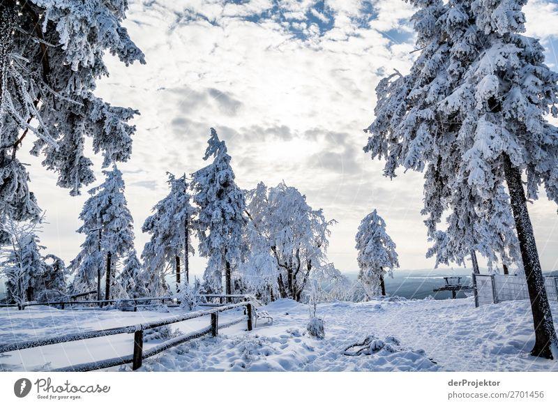 Mittag auf dem Wurmberg im Harz Ferien & Urlaub & Reisen Tourismus Ausflug Winterurlaub Berge u. Gebirge wandern Umwelt Natur Landschaft Schönes Wetter Eis