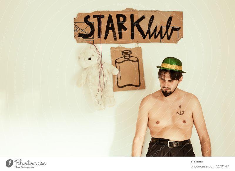 Flachmänner Mensch Mann Erwachsene Party Stil Feste & Feiern Körper Tanzen Kraft maskulin Schilder & Markierungen Lifestyle Show Hut stark Tattoo
