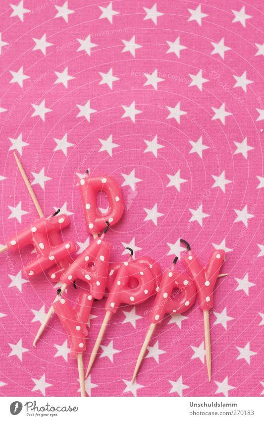 Glücklicher Tag weiß Freude Party Freundschaft Feste & Feiern Stimmung rosa Geburtstag verrückt Fröhlichkeit Schriftzeichen Dekoration & Verzierung Lifestyle