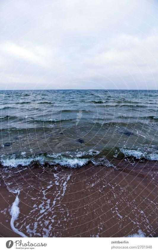 Ostsee Ferien & Urlaub & Reisen Herbst Küste Mecklenburg-Vorpommern Meer mönchgut Nebensaison Natur Rügen Strand Tourismus Winter Ferne Sehnsucht Horizont