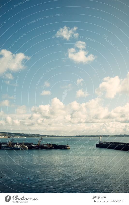 into the blue Himmel Natur blau Wasser Sommer Meer Strand Wolken Ferne Umwelt Landschaft Küste Wasserfahrzeug Insel Urelemente Schönes Wetter