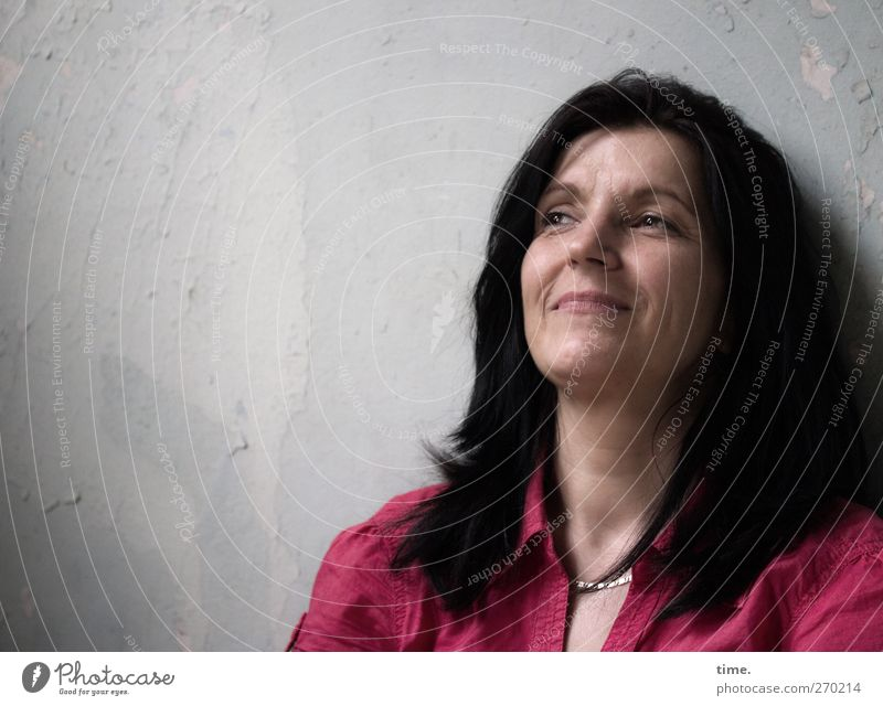 Come As You Are Mensch Frau schön Erwachsene feminin Erotik Wärme Haare & Frisuren Glück Kopf Zufriedenheit Lächeln Freundlichkeit kompetent listig