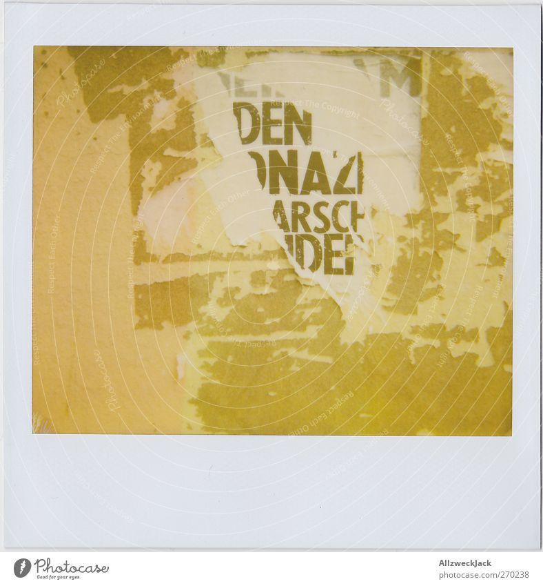 Nazi Arsch Kunst Zettel Schriftzeichen einzigartig kaputt trashig Stadt Ärger Feindseligkeit ästhetisch Stil Plakat Poster Wand Flugblatt Faschist