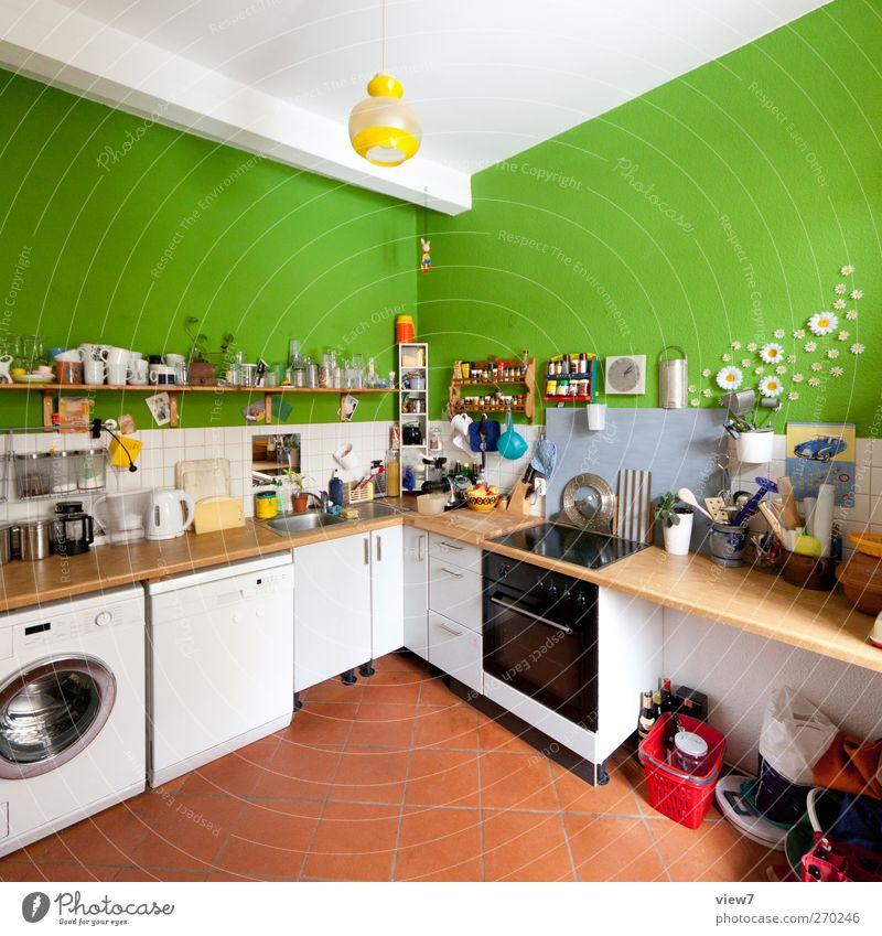 Studentenküche Innenarchitektur Raum Wohnung Beginn frisch authentisch Häusliches Leben einzigartig Küche einfach Umzug (Wohnungswechsel) trashig Nostalgie