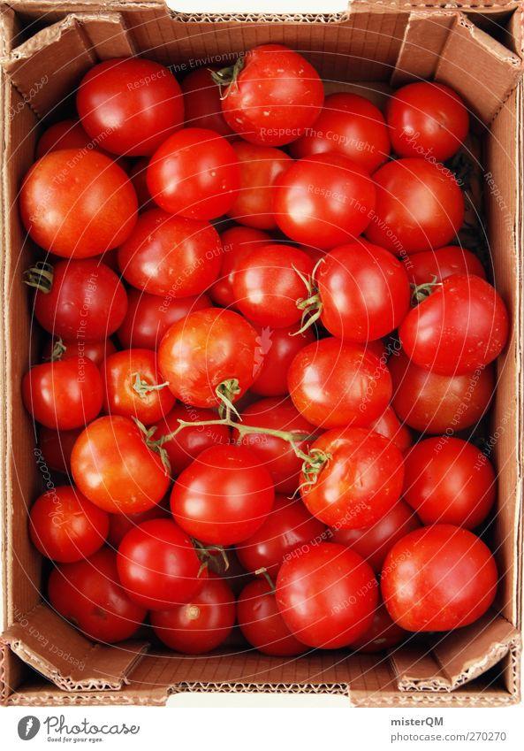 Tomatina? rot Lebensmittel Kunst Gesundheit ästhetisch viele rund Sammlung Kiste Tomate Vorrat gelagert Vorratskammer Tomatensalat Tomatenplantage